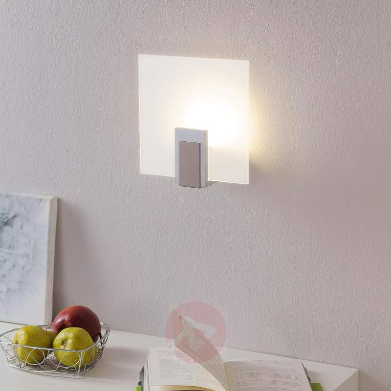 Sara glass wall lamp with LED and switch - Wall Lights