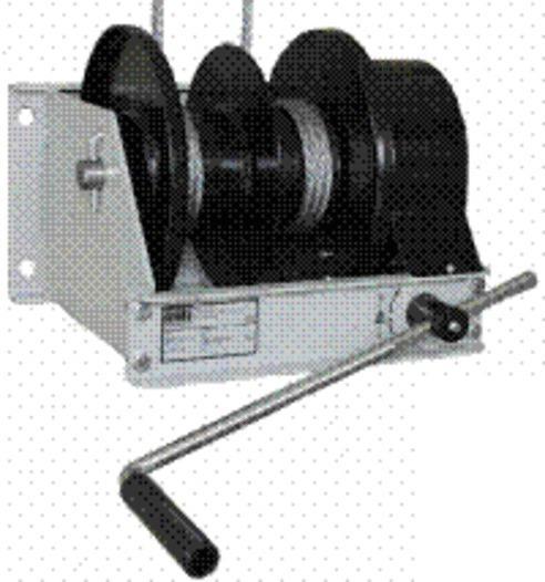 TEC-HANDSEILWINDEN - Schneckenradwinden - Konstruktion nach DIN 15020