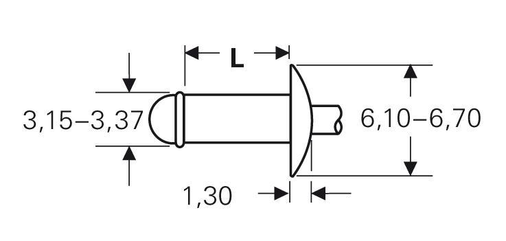 Blind rivet technology - POP® - High-retention rivets - Domed head