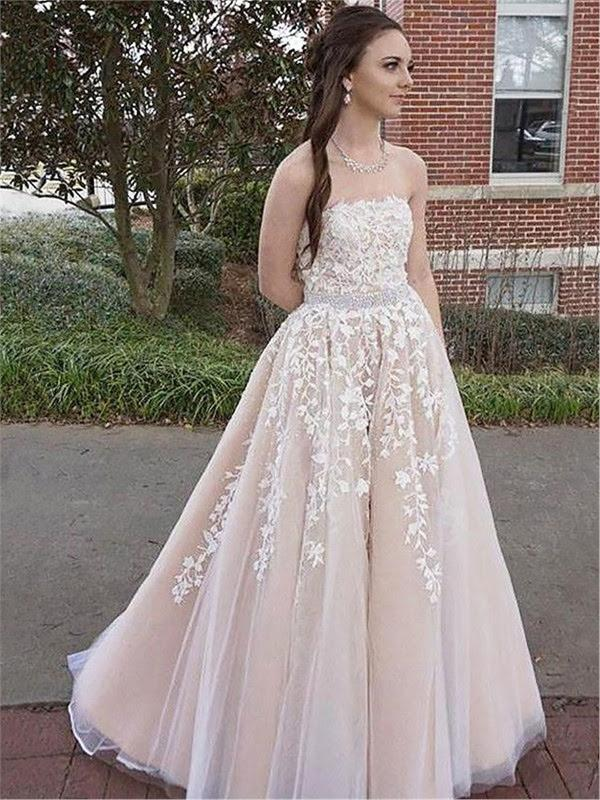 Long Chiffon Evening Dress - Long Eveningdress