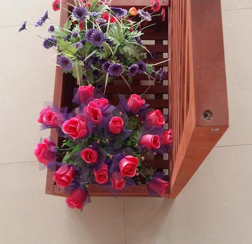 Flower box rack for decrection - Wooden material box