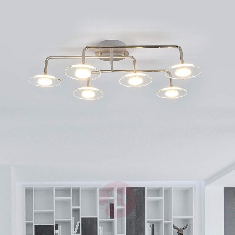 Extravagant 6 Light Kitchen Ceiling Light Tiam   Ceiling Lights ...