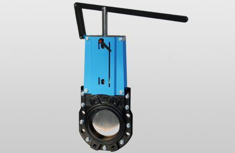 Knife-gate valve WGEB-ML. - bidirectional - hand lever - GG-25