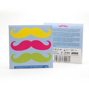 """Pochettes préservatifs """"Moustache"""" - 50 pièces par visuel"""