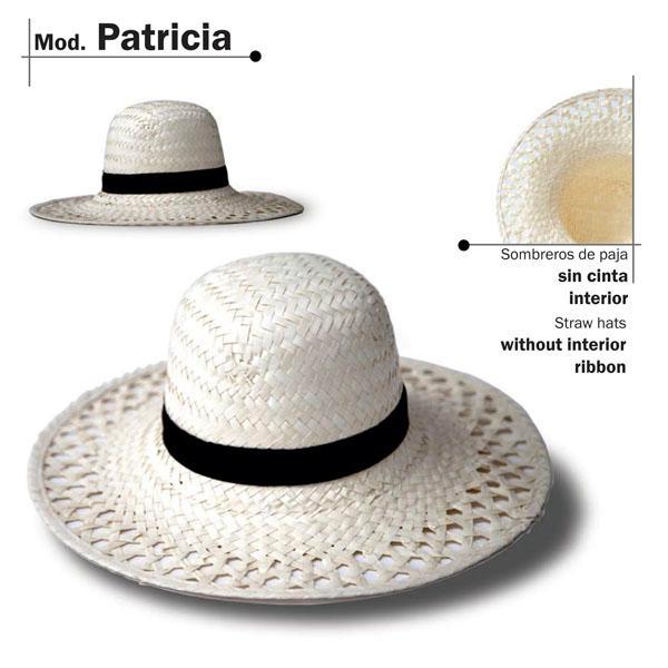 Chapéu de palha - Modelo Patricia