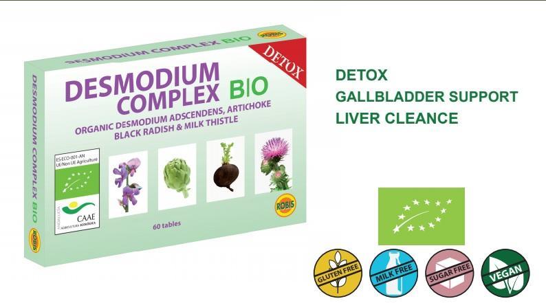DESMODIUM COMPLEX BIO - Organic desmodium adscendens, artichoke, black radish & milk thistle.