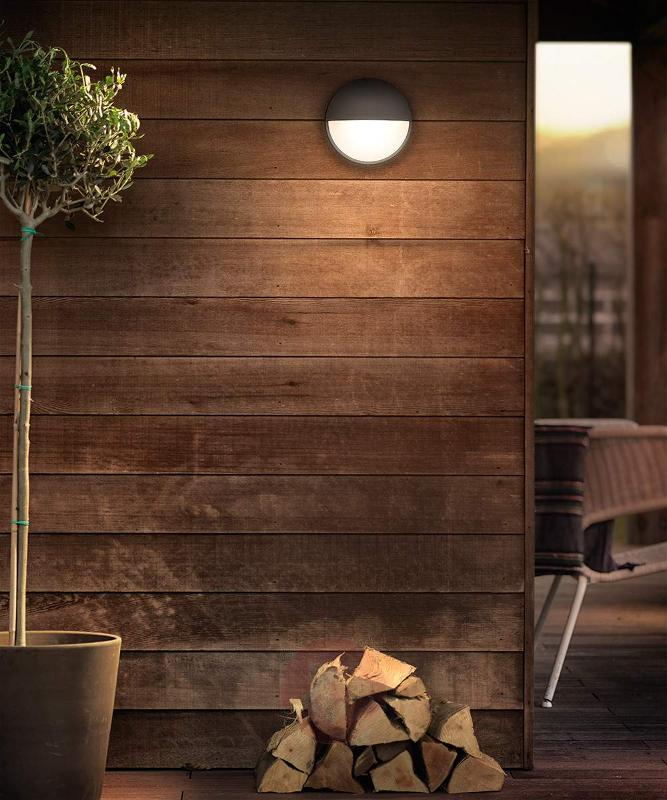 Capricorn anthracite-coloured LED wall light, IP44 - Outdoor Wall Lights