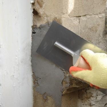 Réparation trou mur - Concrex Vertical 10 kg gris Truelle de 14 cm