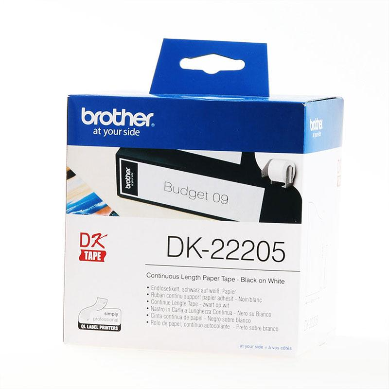 Brother Labels - original supplies - Brother Label DK-22205 wit