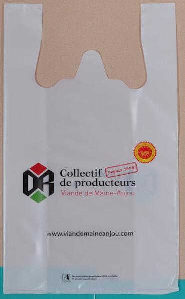 Sac plastique bretelles - SAC PLASTIQUE