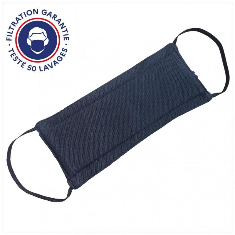 Masque Tissu Dga Noir 50 Lavages (Préconisation Afnor) - null