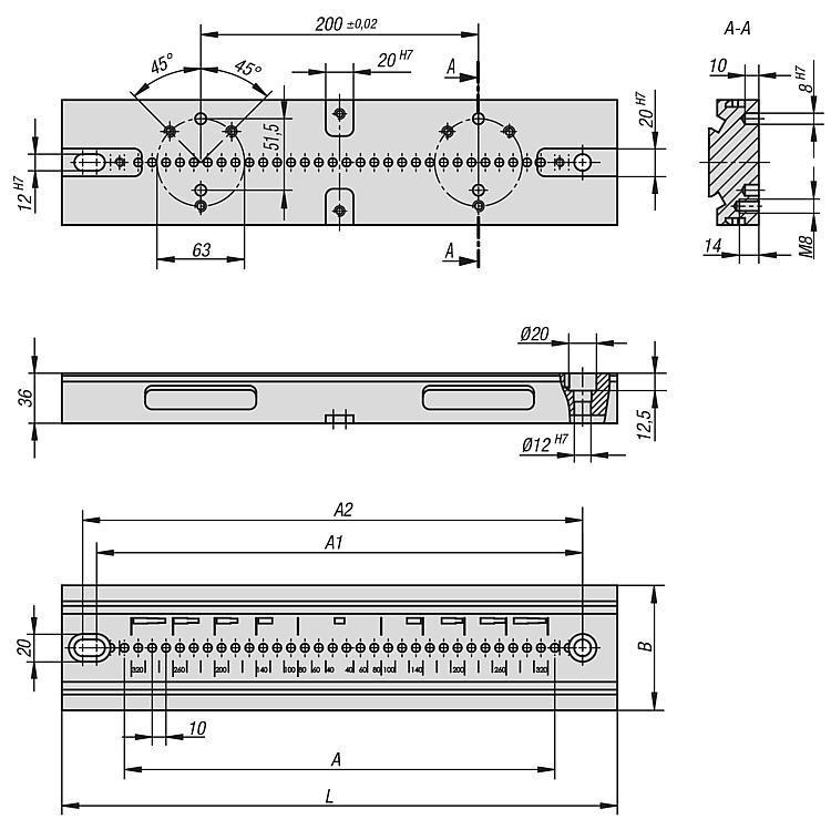Plaques de base - Etau de bridage 5 axes compact