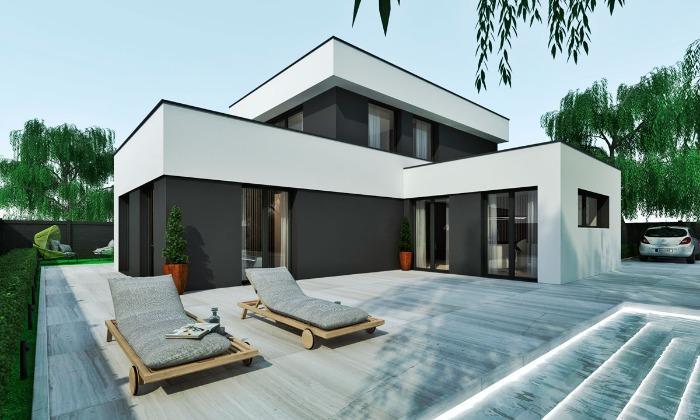 Casa prefabricada económica - Modelo TKMCS 210