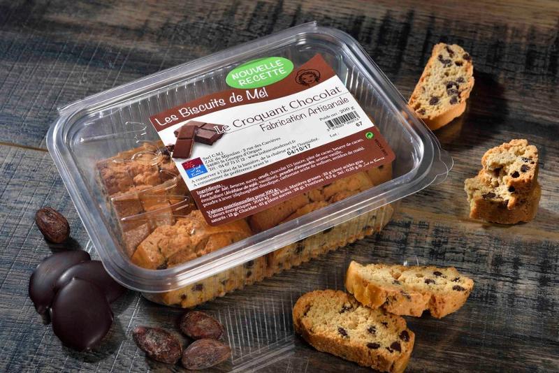 Croquant chocolat barquette 200gr - Épicerie sucrée