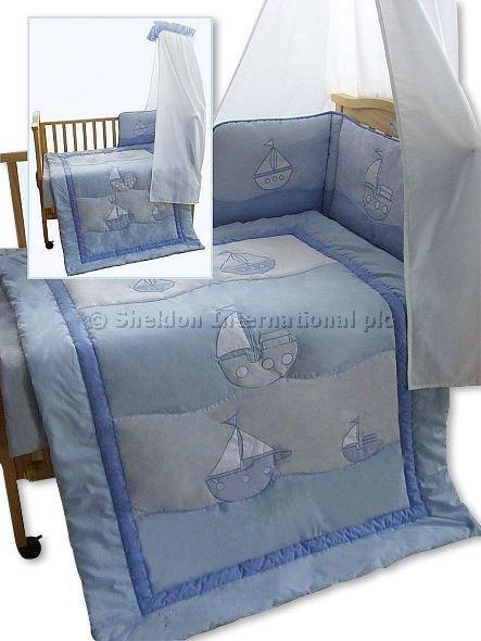 3 pcs Cot/ Cot-Bed Set - Boat - Bedding Sets