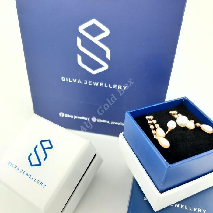 Dark Blue & White Boxes  - Paper KCK