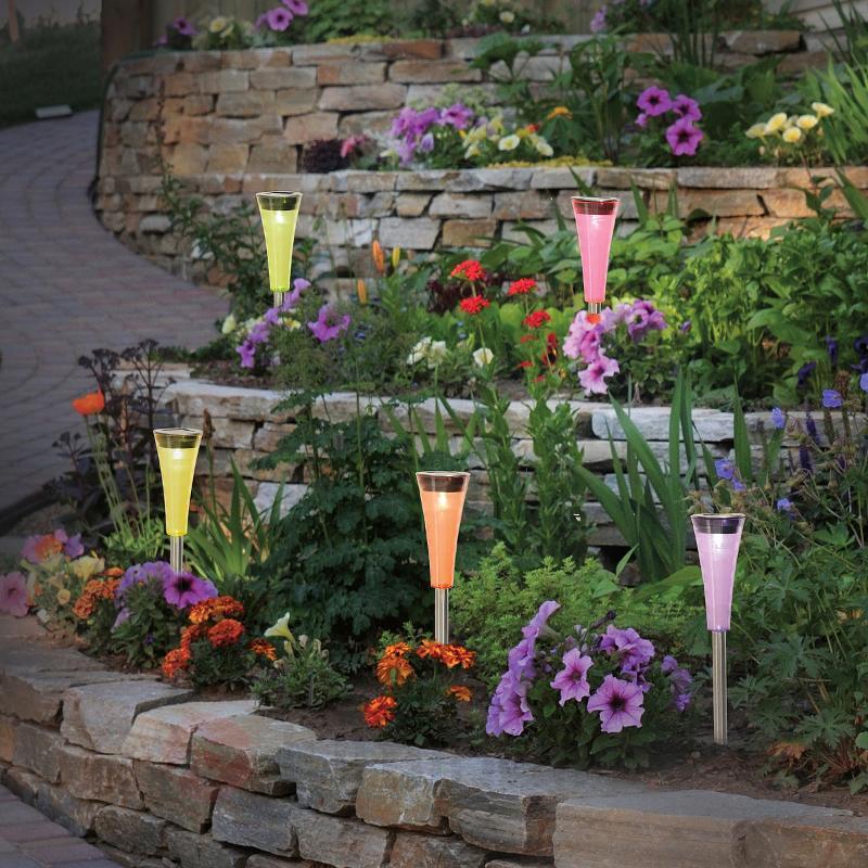 Lampes solaires LED Colorato - lot de 5 - Lampes solaires décoratives