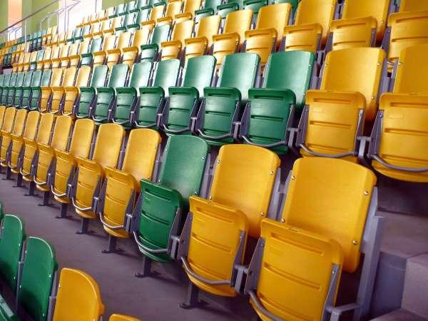 Tip-up folding chair ARENA - Folding tip up seat chair for stadium, grandstand, corridor