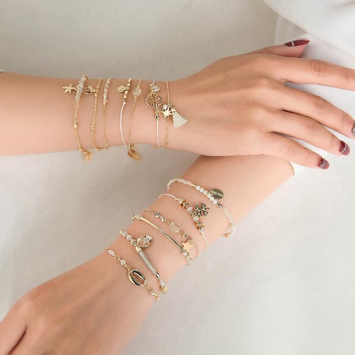 Bracelet JOELLE - Bracelet fin avec mousqueton
