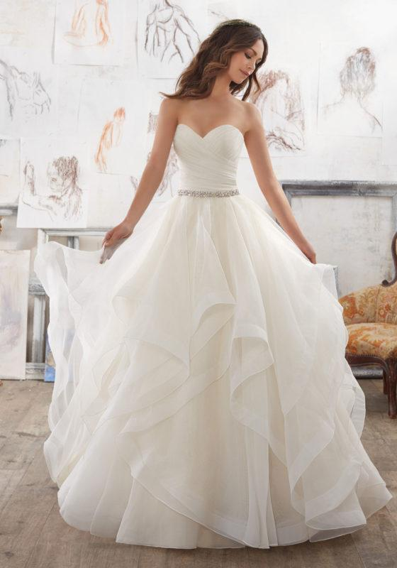 Organza Ball Wedding gown - Custom Made To Measure, UK - Tailor Made To Measurements | Designer Gowns | Get your own design