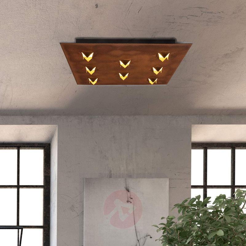 Antique rust finish - LED ceiling light Roni - Ceiling Lights