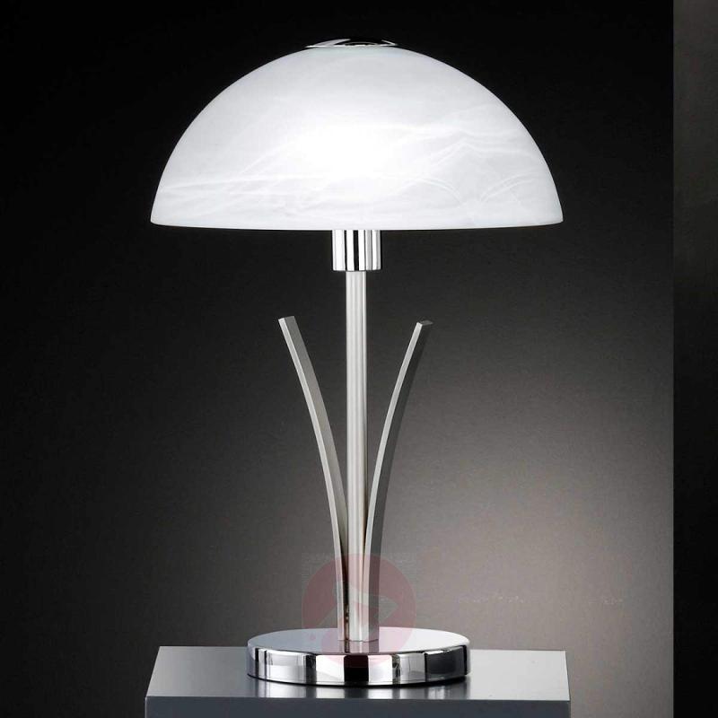 Tasteful table lamp BRAVA 40 cm chrome - indoor-lighting