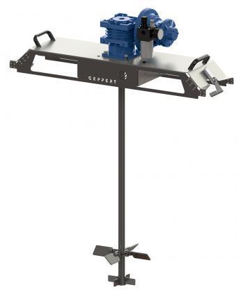 CRP-E - Pneumatic tote tank mixer for plastic IBCs - Tote tank mixers