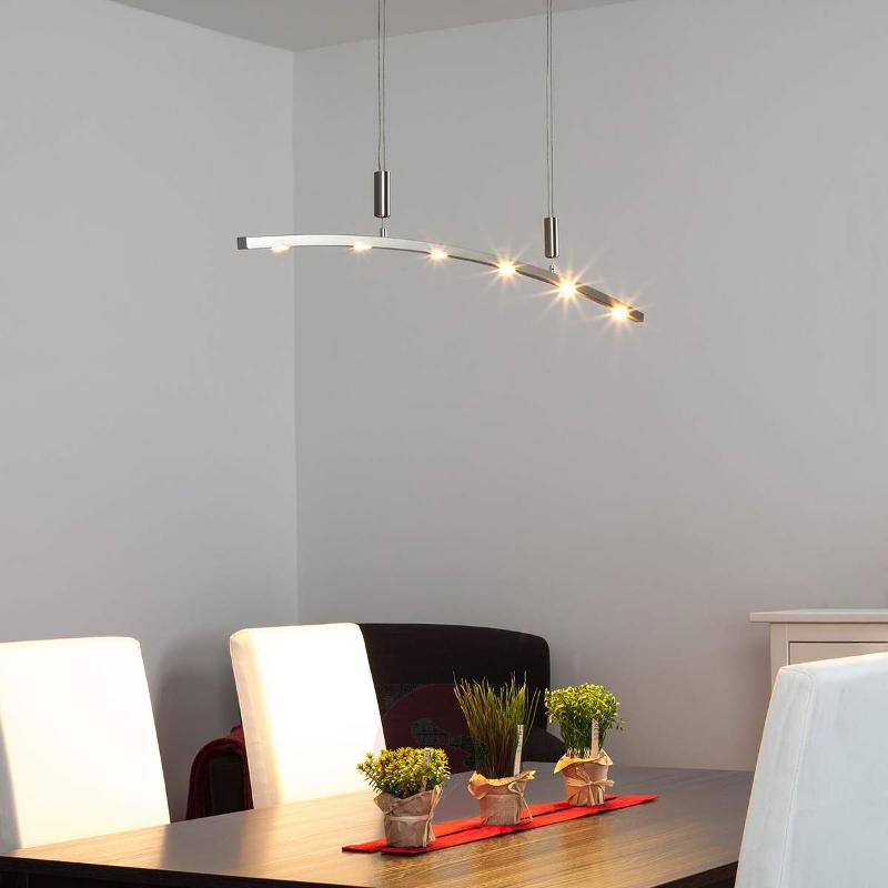 Falo Curved LED Pendant Lamp, Height-adjustable - Pendant Lighting