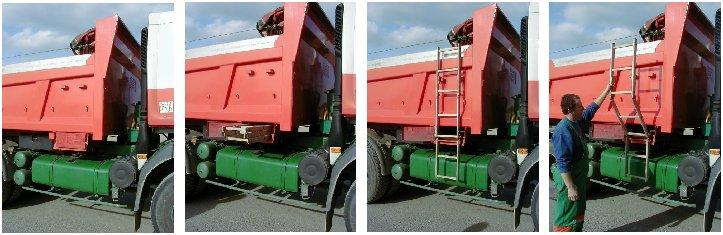 Echelle escamotable pour camion