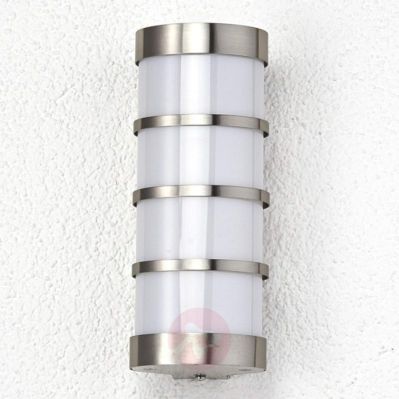Leroy Stainless LED Exterior Wall Lamp - stainless-steel-outdoor-wall-lights