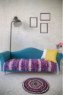 Handloom rug made of velour. Very soft  -
