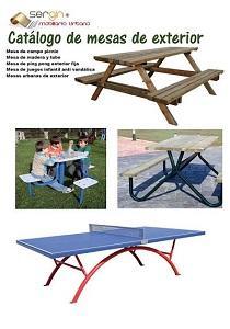 Mesas para exterior  - tipo picnic y mesas de juego fijas