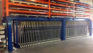 Platenstelling verticaal - Opslag metalen platen
