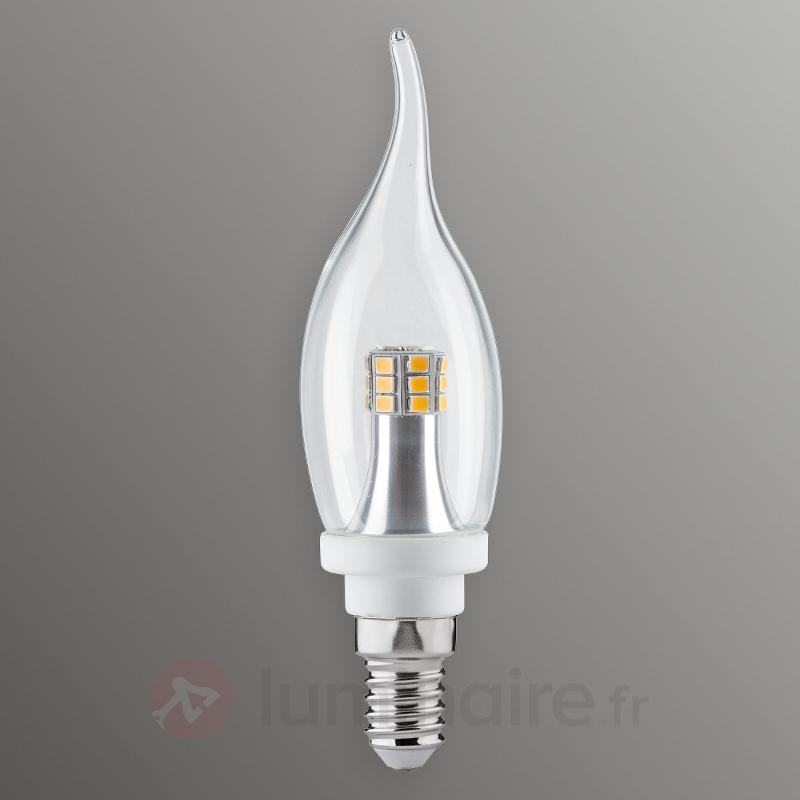 Ampoule flamme LED E14 4W 827 transparente - Ampoules LED E14