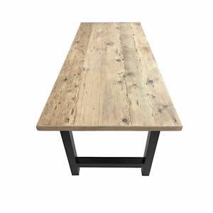 Table en vieux plancher - Plateau en vieux plancher