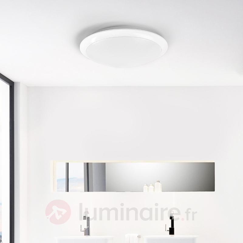 Arika - plafonnier LED en blanc - Plafonniers LED