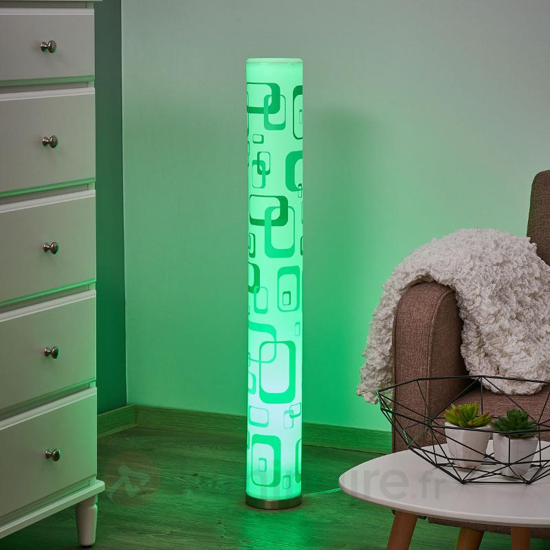 Lampadaire LED Mirella avec motif rétro, GU10 RGB - Lampadaires LED