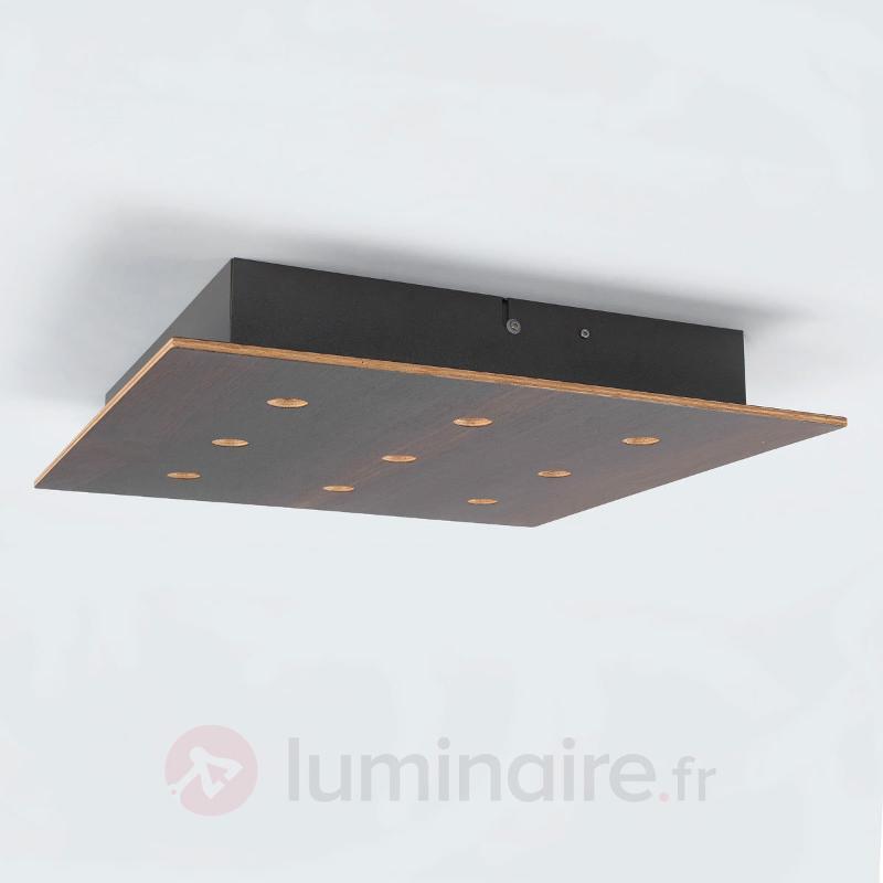 Juri - élégant plafonnier LED en bois de chêne - Plafonniers en bois