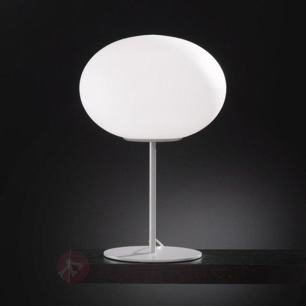 Lampe à poser Alice abat-jour sphérique en verre - Lampes à poser designs