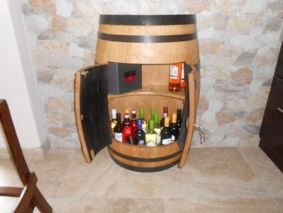 New Half Wine Barrel Cabinet -