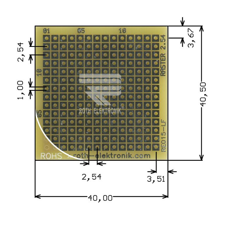 RE015-LF - Prototyping Boards Dual Inline