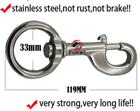 stainless steel swivel bolt snap for horse lead rope - stainless steel swivel bolt snap for horse lead rope,size:119X33MM,105 gram