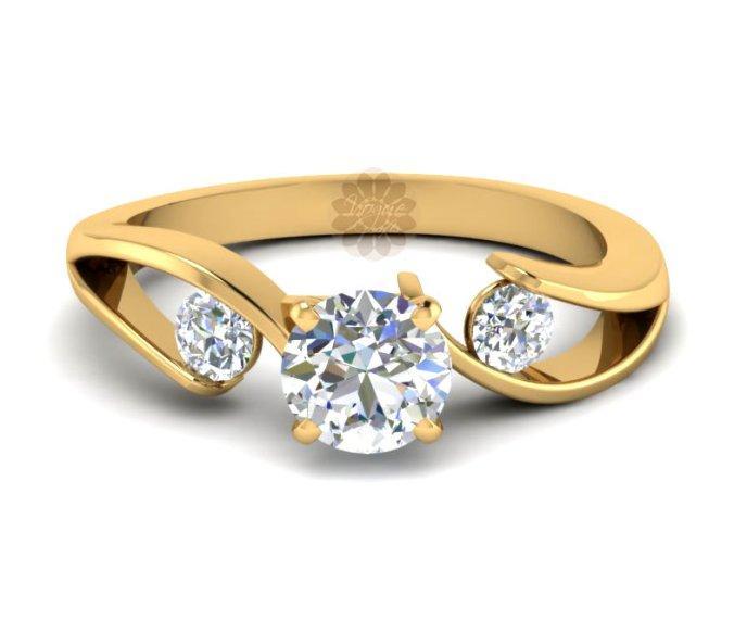 Designer Diamond and Gold Ring -