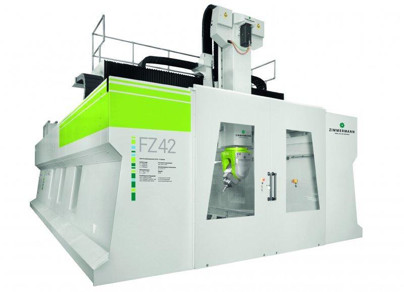 5-осевой фрезерный станок портального типа FZ 42 - Портальный фрезерный станок FZ42 для обработки стали, чугуна и тяжелых материало