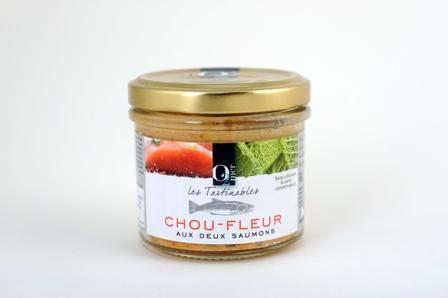 Les Tartinables Choux-Fleur Aux Deux Saumons 100G - Epicerie salée