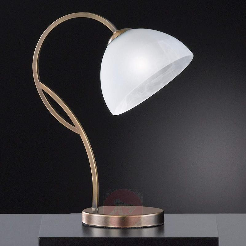 Classic glass table lamp Pastille, antique brass - Table Lamps