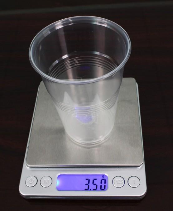 Пластиковый одноразовый стакан 3,5 гр. 200 мл,  - 100 шт/уп