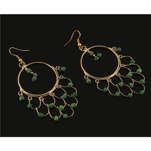 Lightweight Dangler Hook Earrings  - Zephyrr Fashion Dangler Hook Earrings for Women Handmade Lightweight with Beads