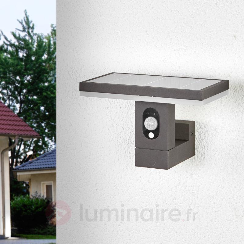 Applique solaire Josa rectiligne avec détecteur - Lampes solaires avec détecteur