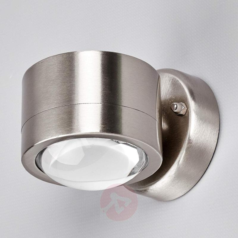 Stainless steel LED outdoor wall lamp Lydia - stainless-steel-outdoor-wall-lights